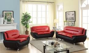 red living room sets. LONDON BLACK AND RED LIVING ROOM SET (3PCs) Red Living Room Sets