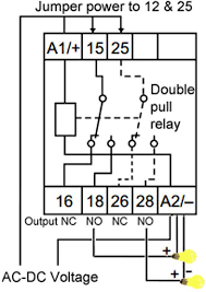 how to wire pin timers jumper power from a1 to com terminals 12 and 25 output terminals no normally open receive power when timer off nc normally closed receive power