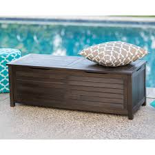 c coast barclay outdoor wood 50 gallon storage deck box dark brown hayneedle