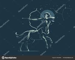 стрелец знак зодиака созвездия стрельца векторные иллюстрации
