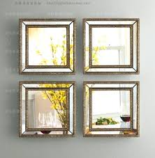 set of pictures for wall mirrored wall decor fretwork square wall mirror framed wall art set