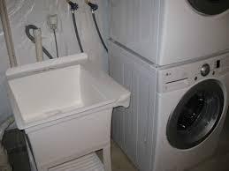 sink hookup washer and dryer. Installing Utility Sink Next To With Hookup Washer And Dryer