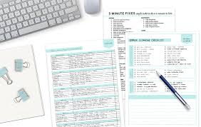 cleaning checklists free printables clean mama