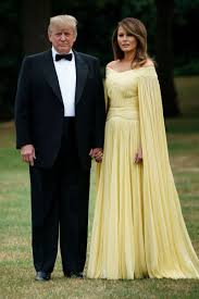 Melania Trump Yellow Dress Designer Melania Trumps Caped Yellow Gown Draws Comparisons To An