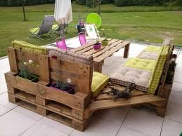 Garden furniture from pallets Coloured For An Exoticlooking Table One Can Use Multicolored Or Stained Pallets Examples Include Orientalstyle Coffee Table Rolling Outdoor Table And Kitchen Designrulz Unique Pallet Furniture Ideas For Your Home Or Patio