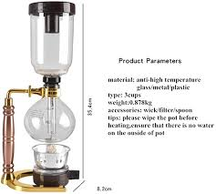 Yama borosilicate hand blown glass is made by master glass blowers. Amazon Com Nafe Japanese Style Siphon Coffee Maker Tea Siphon Pot Vacuum Coffeemaker Glass Type Coffee Machine Filter 3cup Gold Home Kitchen