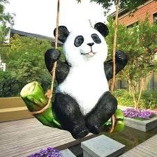 outdoor garden statues the koala panda statue garden ornaments animal sculpture crafts decorative outdoor garden rockery