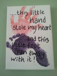 this little hand stole my heart and this little foot ran away with it