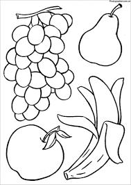 Tranh tô màu hoa quả, trái cây đẹp và đơn giản cho bé
