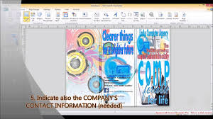 How To Create A Pamphlet In Word 2010 Making Brochure Using Ms Publisher 2010