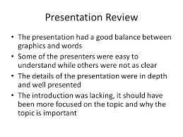 group s rebuttal most of the comments were positive which were  96 presentation