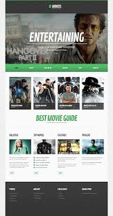 website template video template 44493 movies video responsive wordpress theme flat