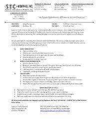 Porter Job Description Resume Catering Manager Cv Template Food