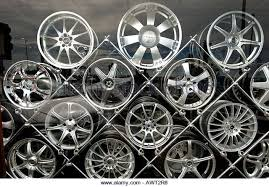 Alloy Wheel Display Stand Alloy Wheels Stack Stock Photos Alloy Wheels Stack Stock Images 10