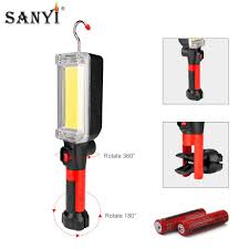 Hydro Light Flashlight Review Us 11 43 37 Off Sanyi 2 Modes Cob Led Work Flashlight Inspection Light Usb Rechargeable 18650 Lantern Magnetic Hook Hanging Torch Camping Lamp In