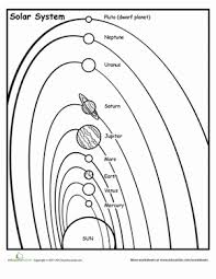 Solar System Chart Worksheet Space Science Diagram Wiring Diagrams