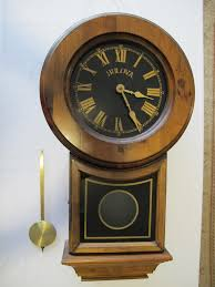 old bulova pendulum chiming wall clock needs repair inside dimensions 1368 x 1824