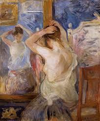 before the mirror 1890 berthe morisot