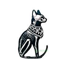 водостойкая временная татуировка стикер древний египетский баст кот тотем тату