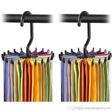 2019 rotating tie rack organizer hanger closet organizer hanging storage scarf rack tie rack holds 20 neck ties hook wn333 from dongliangmei no2