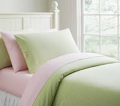 pottery barn kids gingham duvet cover in green full queen for 109 on
