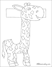 31 days of abcs archives all done monkey Parent Trap House Plansranch Home Plans L Shaped spanish coloring page j es de jirafa