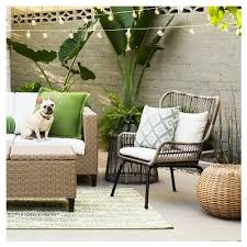 Latigo 3 pc Rattan Patio Chat Set Threshold™ Tar