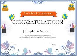 Microsoft Powerpoint Certificate Template Download Preschool Graduation Certificate Borders Template