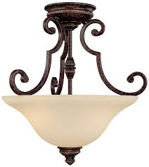 capital lighting 3588cb barclay traditional chesterfield brown semi flush flush ceiling light fixture loading zoom