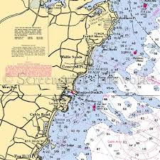 New Hampshire Lake Winnipesaukee Nautical Chart Decor