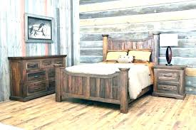 King Size Log Bed Frame Pine King Size Bed Rustic King Size Bed ...
