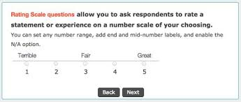 how to ask the right questions on your online surveys survey  rating scale for online surveys