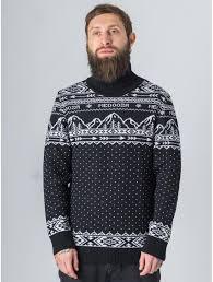 <b>Свитер</b> с горлом MEDOOZA Горы (черный) — купить в магазине ...