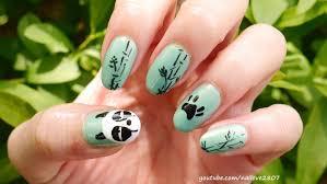 Sleepy Panda Nail Art Tutorial | Genma Saotome Nails - YouTube