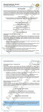 Art Teacher Resume Template Teacher Resume Example Free