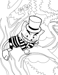 Small Picture Cheshire Cat Coloring Page Handipoints