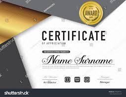 certificate template luxury diploma stylevector illustration stock  certificate template luxury and diploma style vector illustration