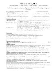 Free Resume Program Fascinating Software Developer Resume Format For Engineer Cv Template Free