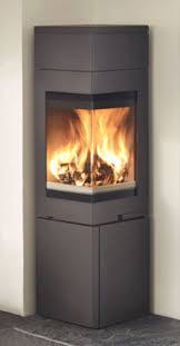 nordpeis quadro 2t wood burning stove corner model