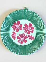 hawaiian inspired paper plate art