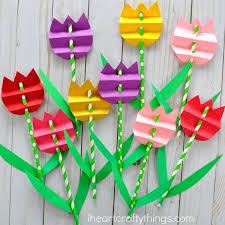 Paper Flower Craft Ideas Pretty Paper Straw Tulip Craft