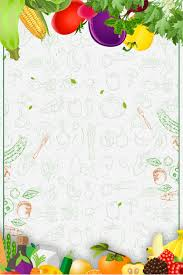 Vegetable Border Design Color Vegetable Border H5 Background Material Vegetables