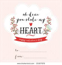 Word S Day Template Cute Valentines Day Card Template Lovely Stock Vector 251877070
