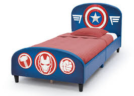 Marvel Avengers Upholstered Headboard and Footboard Twin Bed - Blue -  Toys