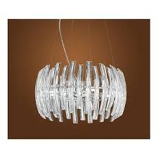 89203 drifter 9 light crystal ceiling pendant chrome