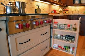 Spice Racks For Kitchen Cabinets Drawer Pull Out Spice Storage Sliding Racks Spice
