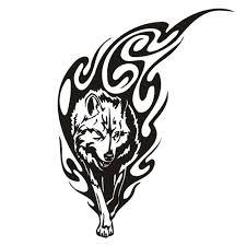 Vlk Vodotěsné Dočasné Tetování Muži Animal Dočasné Tetování Fake Tattoo Sleeve Tetování Samolepka At Vova