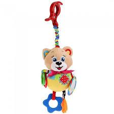 Подвесная игрушка <b>Умка</b> пищалка <b>Мишка на</b> клипсе с ...