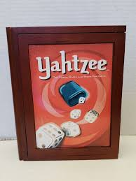 Parker Brothers Vintage Game Collection Wooden Book Box Yahtzee