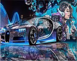 3D wallpaper street graffiti sports car ...